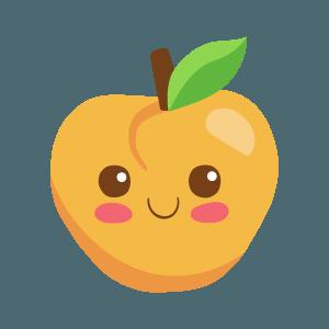 Kawaii Fruits And Vegetables messages sticker-7