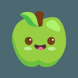 Kawaii Fruits And Vegetables messages sticker-5