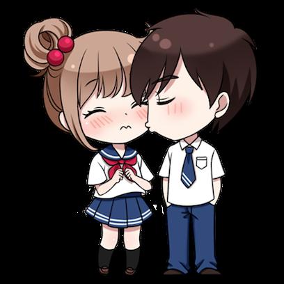 情侣缘分表情 messages sticker-2