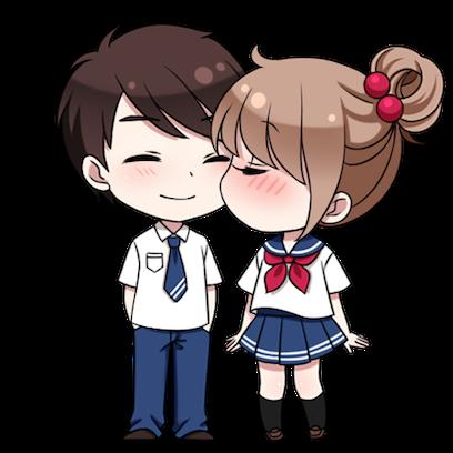 情侣缘分表情 messages sticker-0