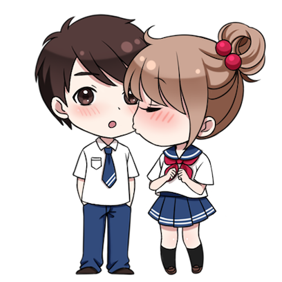 情侣缘分表情 messages sticker-1