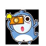 Blue Little Seal messages sticker-7