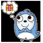 Blue Little Seal messages sticker-9