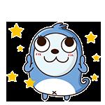 Blue Little Seal messages sticker-2
