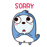 Blue Little Seal messages sticker-5