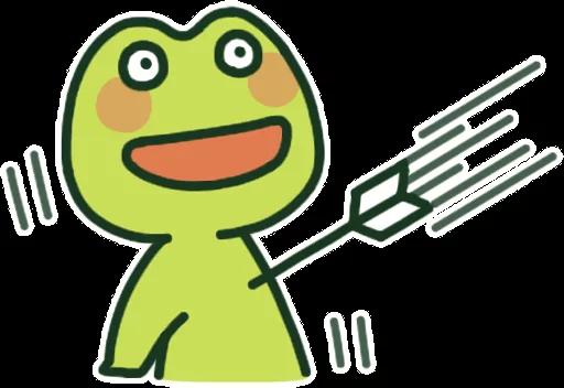 GreenFrogSHOW messages sticker-8