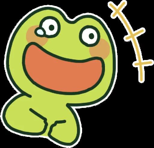 GreenFrogSHOW messages sticker-4