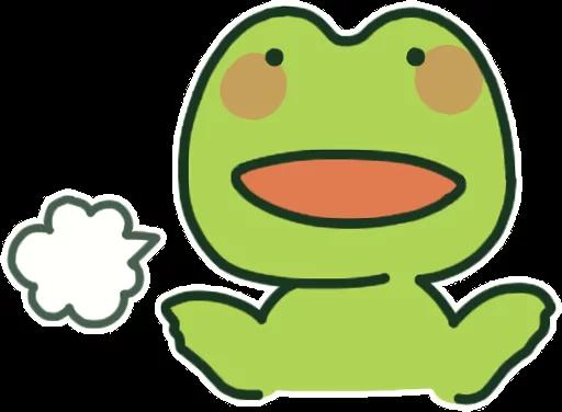 GreenFrogSHOW messages sticker-7