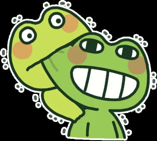 GreenFrogSHOW messages sticker-0