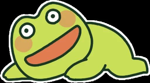 GreenFrogSHOW messages sticker-9