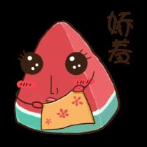 冰爽西瓜贴图-炫酷 messages sticker-8