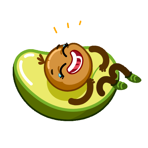 Funny Avocado Animated Sticker messages sticker-0