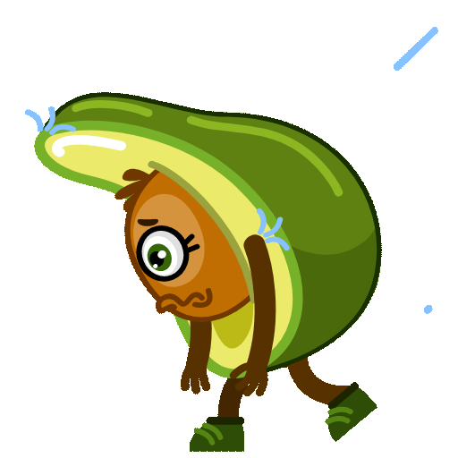 Funny Avocado Animated Sticker messages sticker-6