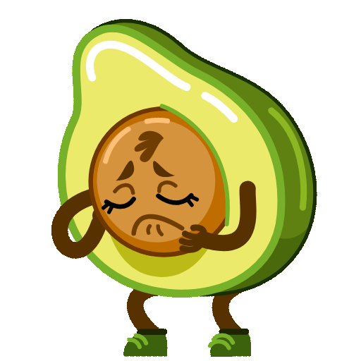 Funny Avocado Animated Sticker messages sticker-5