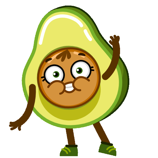 Funny Avocado Animated Sticker messages sticker-4