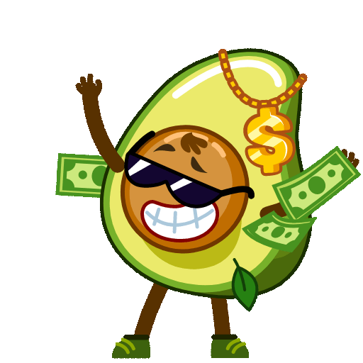 Funny Avocado Animated Sticker messages sticker-8