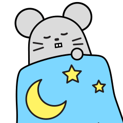 Little Grey Mouse messages sticker-5