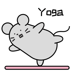 Little Grey Mouse messages sticker-3