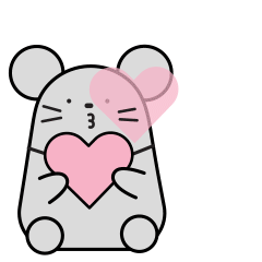 Little Grey Mouse messages sticker-9