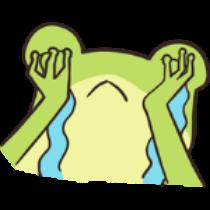 迷之青蛙贴纸 messages sticker-4