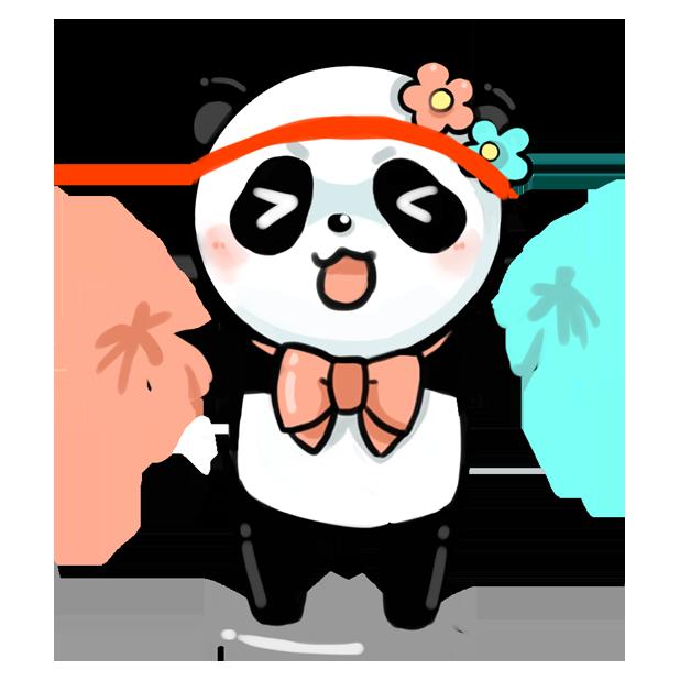 La panda messages sticker-5