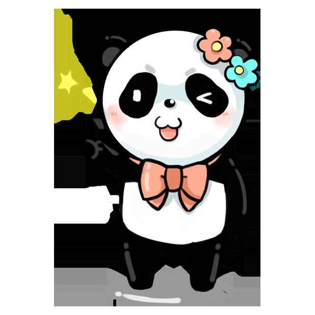 La panda messages sticker-9
