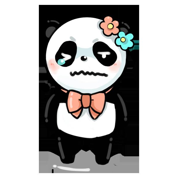 La panda messages sticker-0
