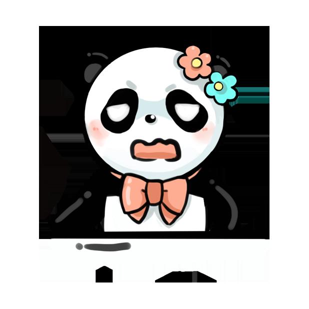 La panda messages sticker-10