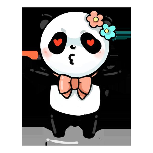 La panda messages sticker-8