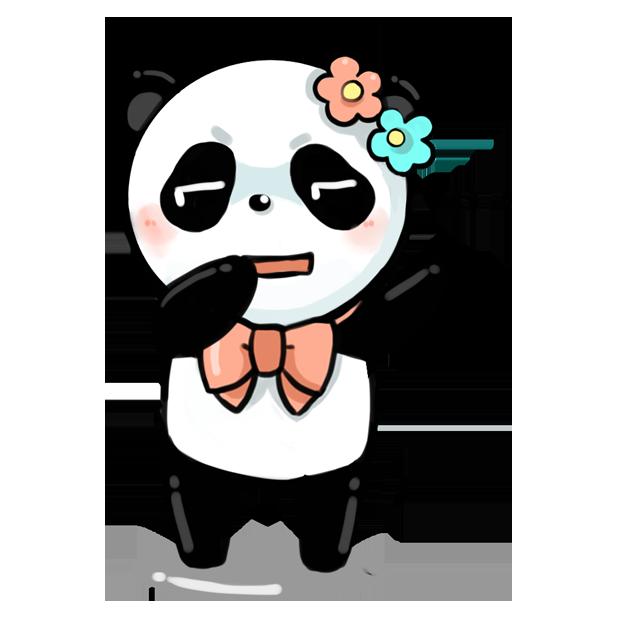 La panda messages sticker-6