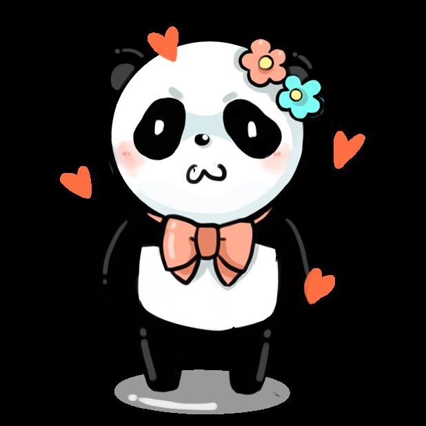 La panda messages sticker-4