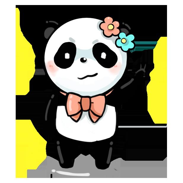 La panda messages sticker-3