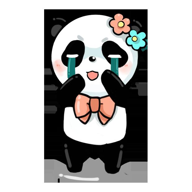 La panda messages sticker-7