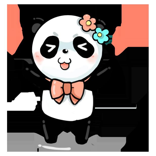 La panda messages sticker-11
