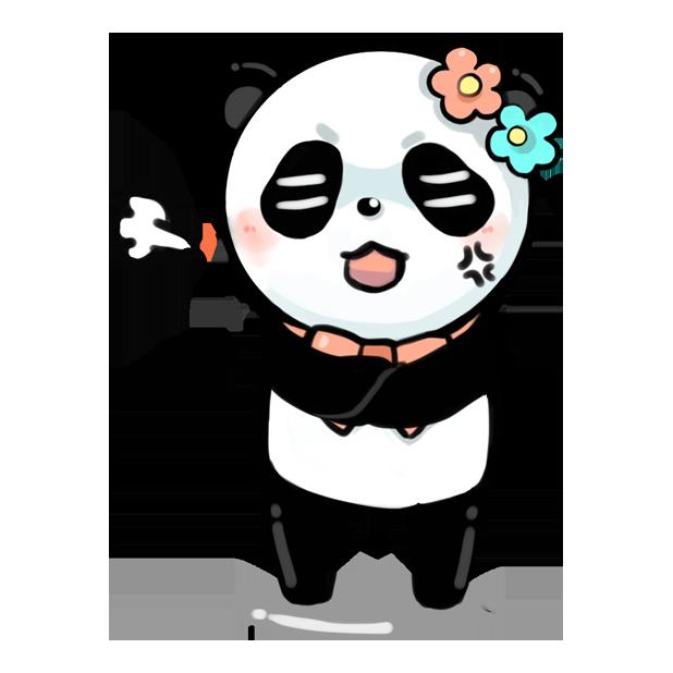 La panda messages sticker-2