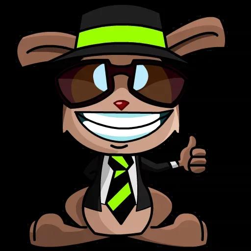 Bunny Boss Diry messages sticker-8