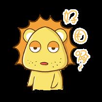 铋崴手机客户端-小狮子可爱贴图 messages sticker-1