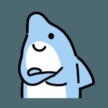CuteDolphin messages sticker-1