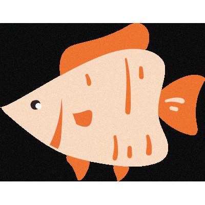 Lovely Aquarium messages sticker-2
