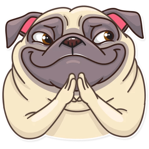 Funny Pug Stickers Pack messages sticker-11