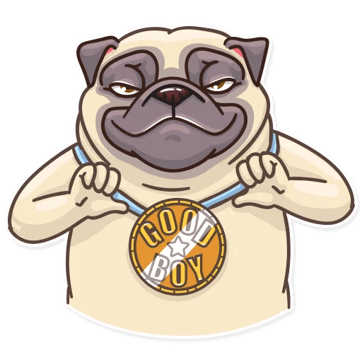Funny Pug Stickers Pack messages sticker-6