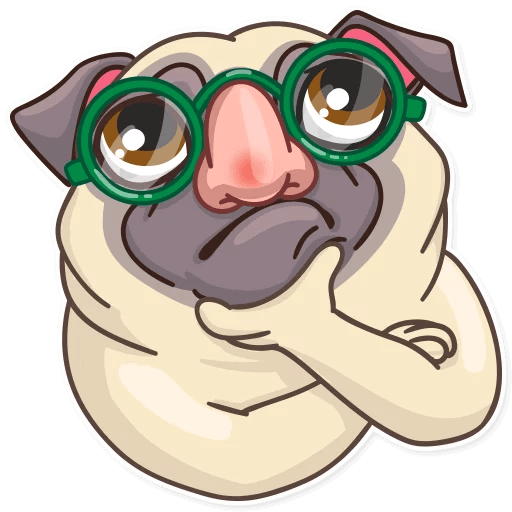 Funny Pug Stickers Pack messages sticker-8