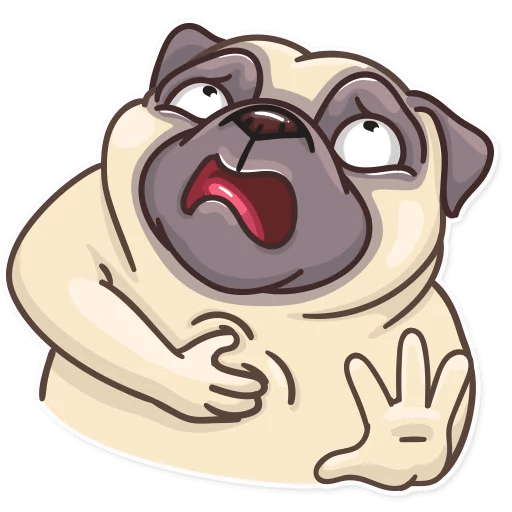 Funny Pug Stickers Pack messages sticker-4