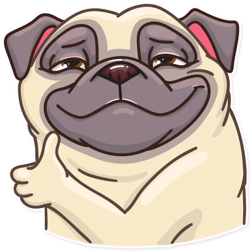 Funny Pug Stickers Pack messages sticker-0