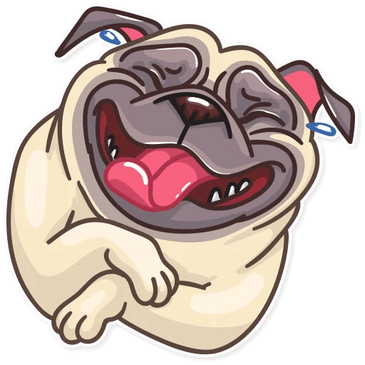 Funny Pug Stickers Pack messages sticker-1