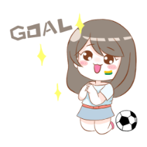 Cute football girl stickers messages sticker-11