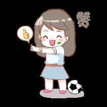 Cute football girl stickers messages sticker-9