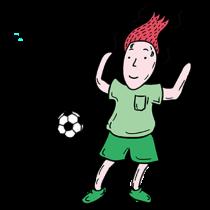 吉祥体育足球-绿衣服球员贴图 messages sticker-2