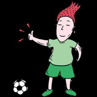 吉祥体育足球-绿衣服球员贴图 messages sticker-8