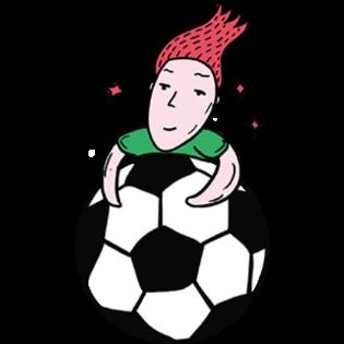 吉祥体育足球-绿衣服球员贴图 messages sticker-5